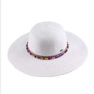 C.C Pom Pom beach hat